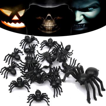 Buy 2Halloween Plastic Spiders Spider Funny Joking Toy Decoration