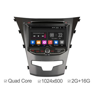 Buy Ownice Car DVD Player GPS Navigation Radio 2G RAM Quad Core Android 4.4 Support OBDll 1024X600 Korando 2014