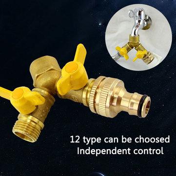 Buy 1/2 Inch Hose Pipe Splitter 2 Way Connector Adaptor Double Garden Tap Outdoor Connectors