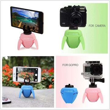RK-03 Mini 360 Panorama Head Robot Monopod Stick Bluetooth Remote Control Adapter For iPhone GoPro
