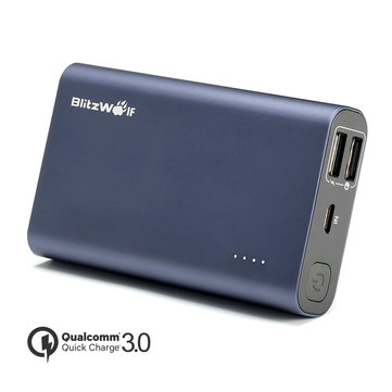 BlitzWolf BW-P3 9000mAh 18W QC3.0 Dual USB Port Power Bank With Power3S Tech
