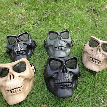 Skeleton Skull Face Mask Protective  Party Halloween ABS Masks