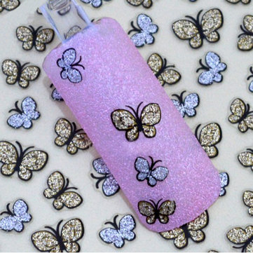 Buy 3D Glitter Butterfly Nail Art Sticker Decals Tips Decoration