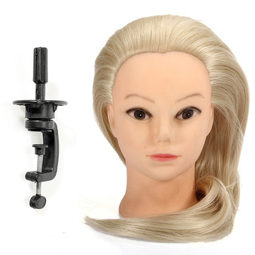 Buy 18 Inch Blonde Fiber Hair Hairdressing Training Head Model