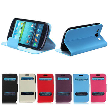 PU Flip Leather Stand Case Front Hollow For Samsung Galaxy S3 i9300