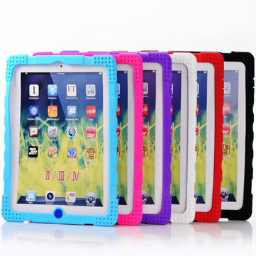 Original Stylish Colorful Anti-skid Silicone Case Cover For iPad 2 3 4