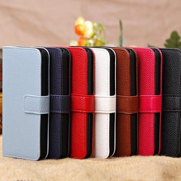 Buy Litchi Grain Magnet Slide Flip Stand Wallet Leather Case iPhone 5C
