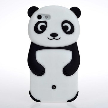 Buy 3D Cute Panda Silicone Soft Back Case Cover iPhone 5 5S