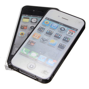 Ultra-thin Aluminum Metal Frame Bumper Case For iPhone 4 4S