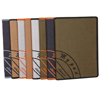 Canvas Pattern Protector PU Leather Stand Case Cover For iPad Mini 2