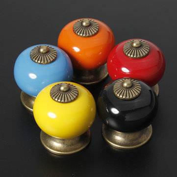 Ceramic Zinc Alloy Door Cabinet Knob