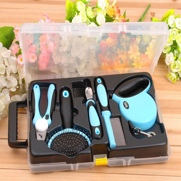 Pet Grooming Tool Set With Retractable