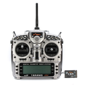 FrSky ACCST Taranis X9D PLUS 16CH 2.4GHz Transmitter with X8R