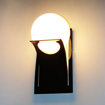 Buy Brief Modern Round Ball Glass Stair Balcony Wall Light Bedroom Lamps