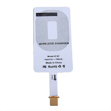 Portable QI Wireless Charger Receiver Cover For iPhone 5 5S 5C