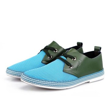 Buy Mens Breathable Mesh Shoes Summer Khaki Blue Gray Flats