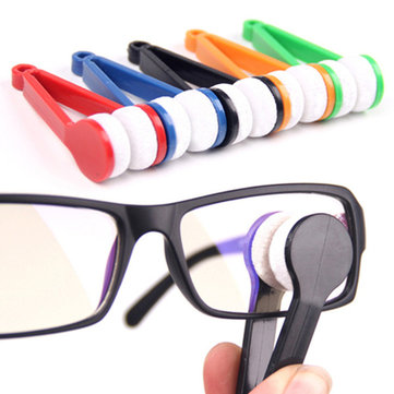 Sunglasses Glasses Eyeglasses Microfiber Brush Cleaner