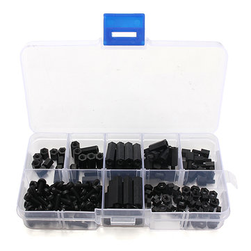 Buy 16M3 Nylon Black M-F Hex Spacers Screw Nut Assortment Kit