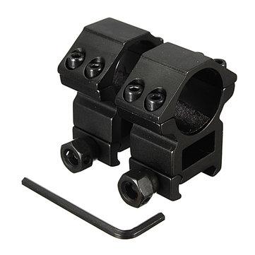 25.4mm Scope Rings For Picatinny Weaver Rail Mount Black 2pcs