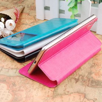 View Window PU Leather Protective Case
