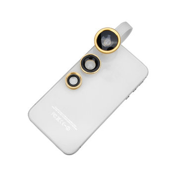 Original Universal Wide Angle Macro Fisheye Lens Clip 3 in 1 Camera Lens For Mobile Phone