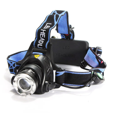 Original CREE XML T6 LED Headlamp Headlight Zoomable Adjustable
