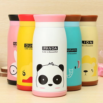 Cartoon Animal Vacuum Flask Thermos Tea Water Cup Bottle 350ML 993528