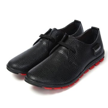 Buy Mens Casual Animal Texture Lace Oxford Artificial Leather Shoes