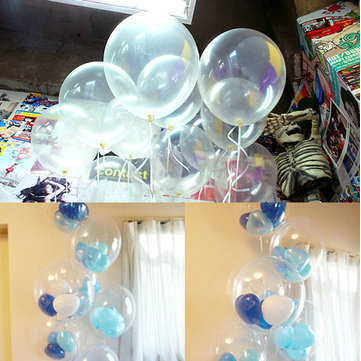100pcs Clear Birthday Wedding Party Decor