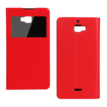 Ultra Thin View Window PU Leather Protective Case Cover For Dazen F1