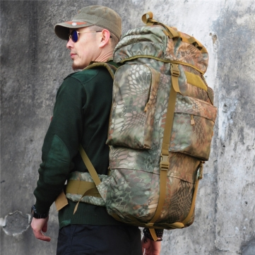 Buy 65L Tactical Military Trekking Backpack Rucksack Camo Shoulder Bag Camping Hiking
