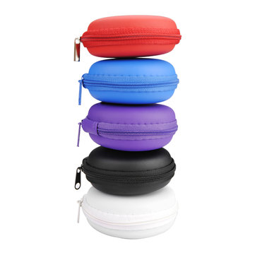 Original Small Round Carrying Storage Bag Case For Earphone Cable