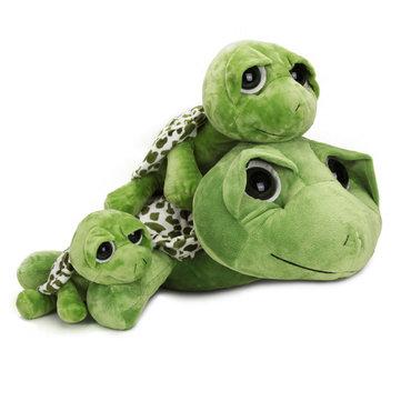 2015 nuevos bebés niños grandes ojos tortuga muñeca suave lindo puntada de peluche de juguete