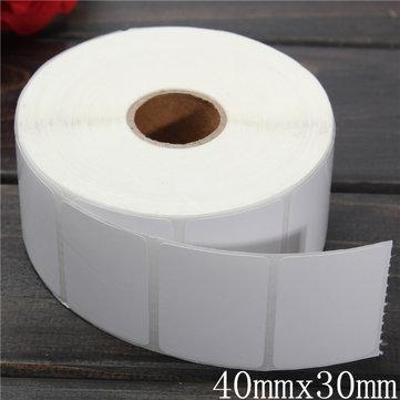 1400pcs 40mm x 30mm code barre blanc de papier couché étiquettes autocollants