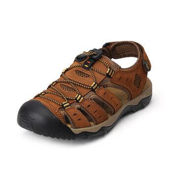 Large Size 2016 New Design Summer Men Leather Sandals Beach Sandals Shoes