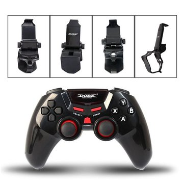 DOBE TI-465 Wireless Bluetooth Game Controller Joystick Gaming Gamepad With Clamp Holder For IOS PC Android