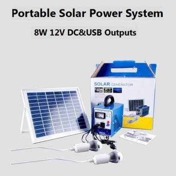 8W Multi-function Portable Solar Power System