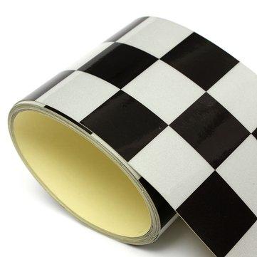 3 Inch Black White Checkered Flag