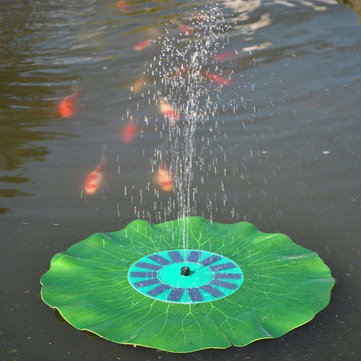 Solar Floating Lotus Leaf Fountain Water