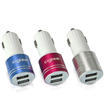 2A Universal Dual Port USB Car Charger for iPhone iPadLaptop And Android Devices