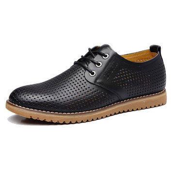 Buy Big Size New Men Breathable Casual Hollow Leather Shoes