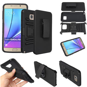 3 In1 Belt Clip PC Silicone Stand Case Cover For Samsung Galaxy Note 5