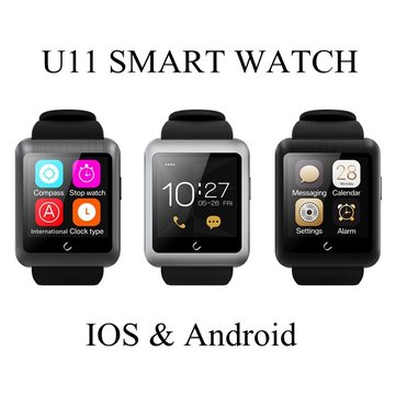 Buy U11 Sports Wristwatch Bluetooth Touch Screen Smart Watch Android IOS Support Multi Language