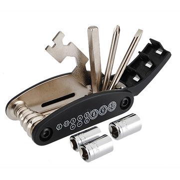 Original 16 in 1 Bicycle Tire Repair Tool Set Kit Chain Rivet Extractor