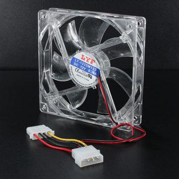 120мм LED синий шасси кристаллический случай вентилятор для охлаждения процессора хост-компьютера 4 булавки