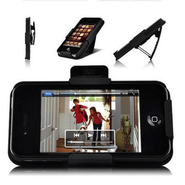 Buy Protective Plastic Stand Clip Holster Back Case iPhone 4 4S