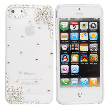 Crystal Diamond Little Flower Decorated Case For iPhone 5 SE