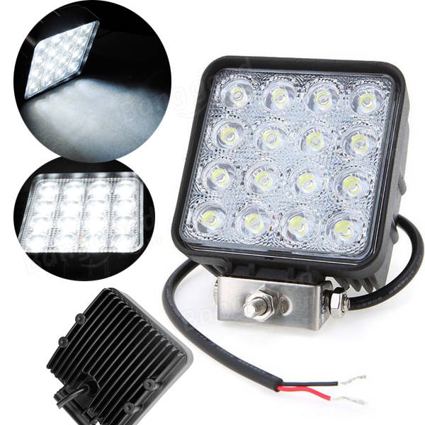 16LED 32Wジープ用作業灯SUV ATV SquareOffroad Led Lamp Driving Spotlight