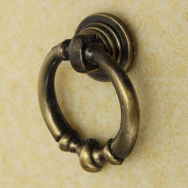 Vintage cabinet knobs old drop ring pulls handle for drawer dresser cupboard at banggood - Drop pulls for cabinets ...