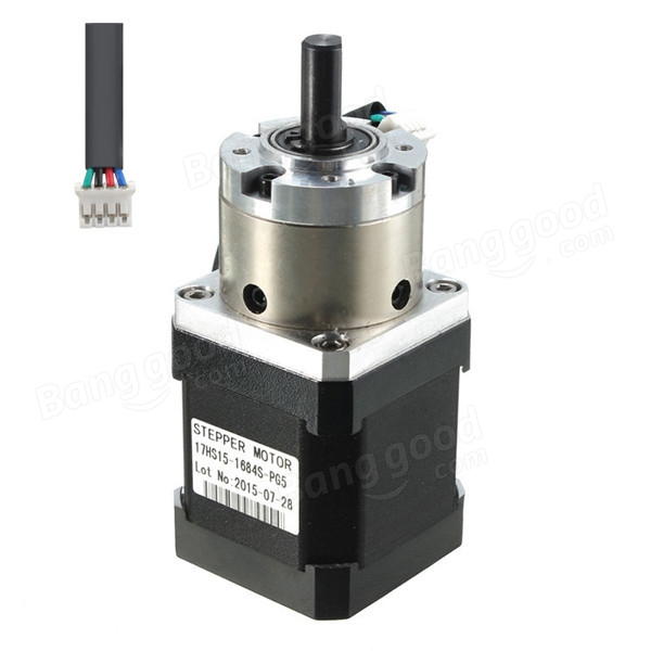 Planetary gear box motor nema 17 stepper motor for Stepper motor gear box